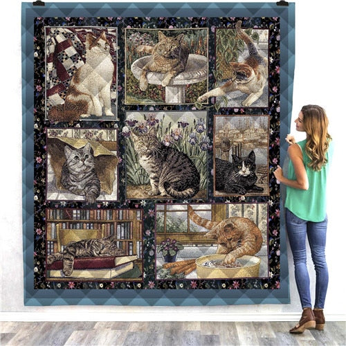 Tabby Cats Quilt/Throw
