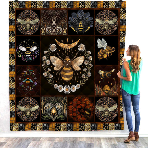Bumble Bee Patches Quilt/Throw