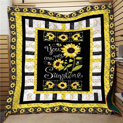 You Are My Sunshine with Sunflowers Quilt/Throw