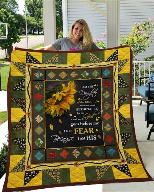I Am Daughter of the King Quilt/Throw