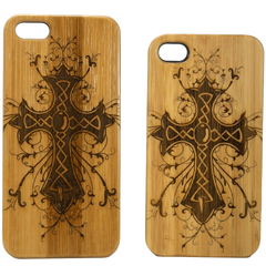 Celtic Cross iPhone 6 Case Eco Friendly Bamboo Wood Cover