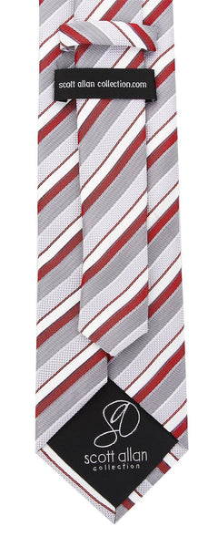 Burgundy Gray Necktie - Scott Allan Collection