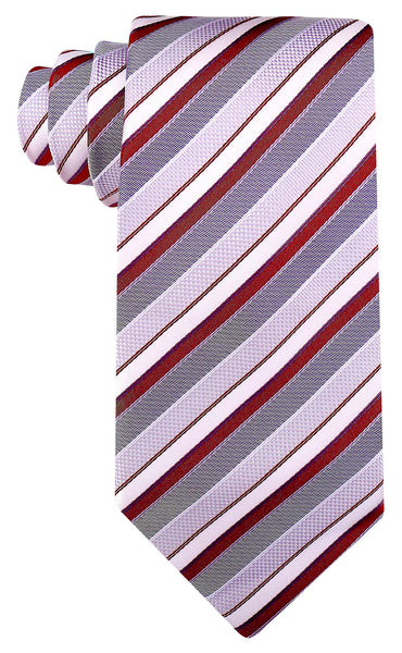 Burgundy Gray Necktie