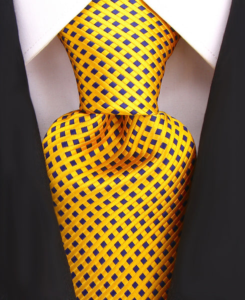 Orange & Blue Diamond Necktie - Scott Allan Collection
