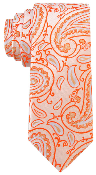 Orange Paisley Necktie