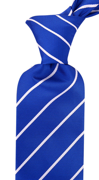 Blue White Pencil Stripe Necktie