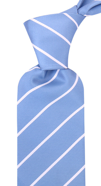 Tufts Blue Pencil Stripe Necktie - Scott Allan Collection