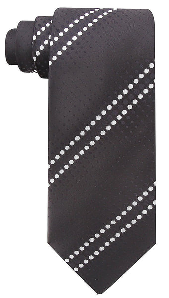 Geometric Necktie - Black and White
