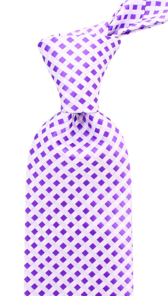 Purple White Necktie