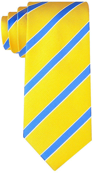 Yellow Blue Striped Necktie