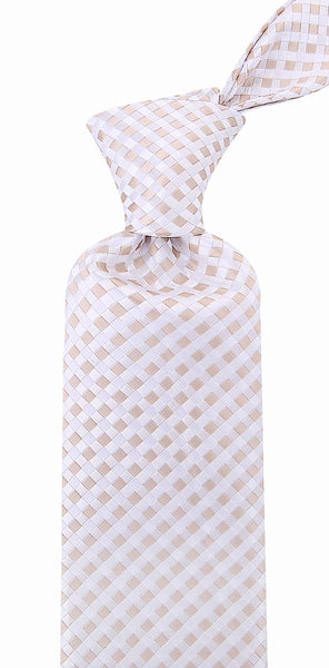 Checkered Beige Neckties from Scott Allan Collection