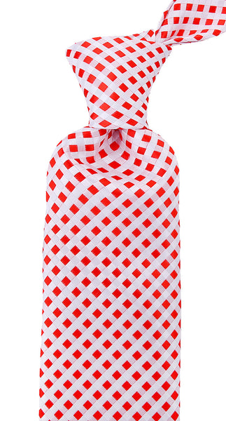 Red & White Checkered Necktie