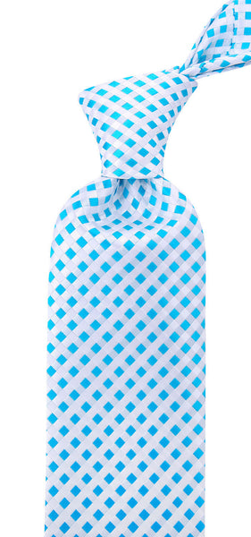 Light Blue Checkered Necktie