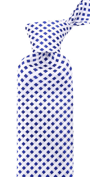 Navy Blue Check Necktie