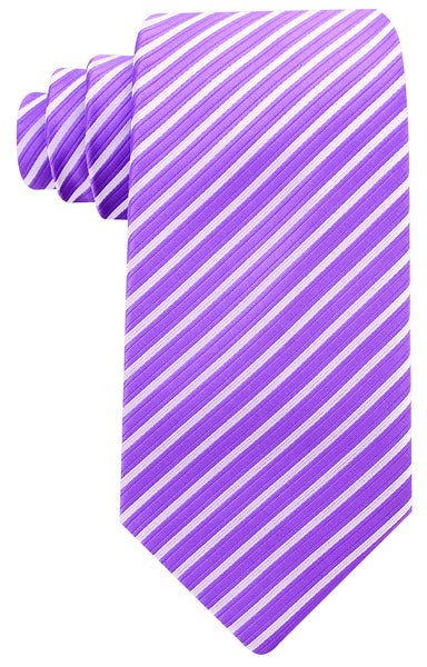Purple Silver Striped Necktie
