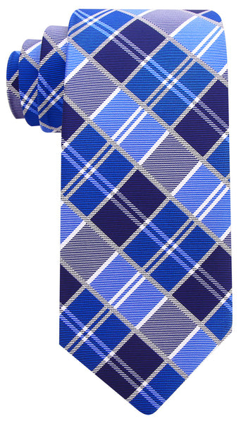 Blue Plaid Necktie