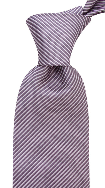 Gray Striped Necktie