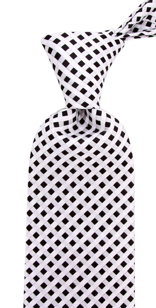 Black & White Checkered Necktie