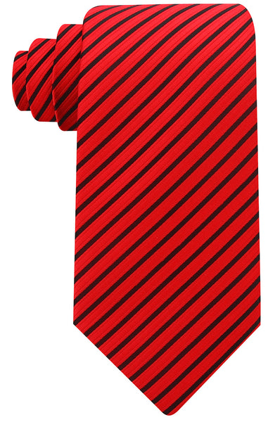 Red Black Pencil Stripe Necktie - Scott Allan Collection