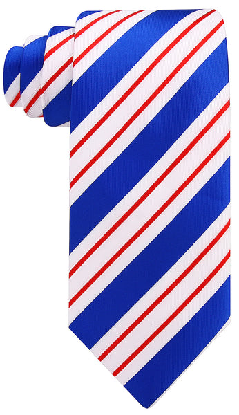 Red, White and Blue Striped Necktie