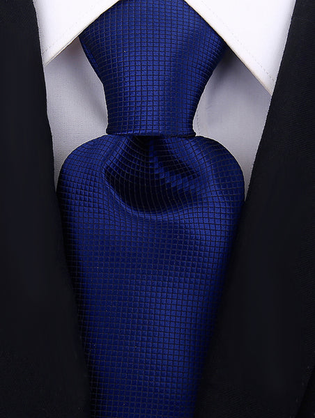 Navy Blue Solid Necktie - Scott Allan Collection