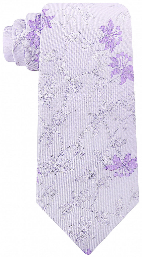 Purple Floral Necktie - Scott Allan Collection