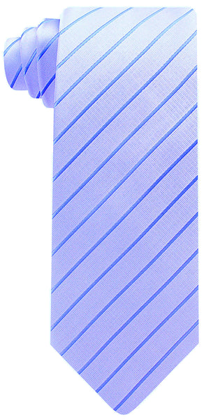 Lavender and Blue Striped Necktie