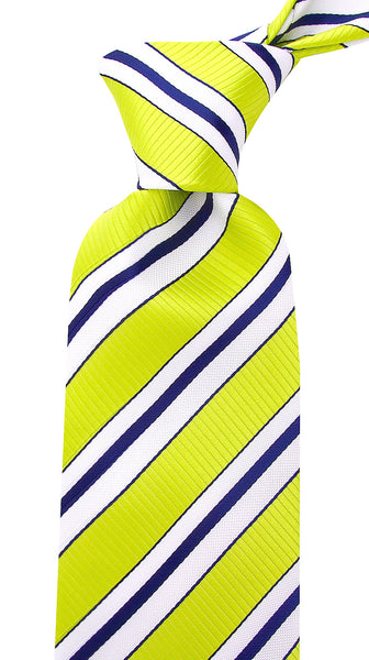 Lime Green Striped Necktie