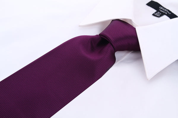Plum Purple Solid Necktie - Scott Allan Collection