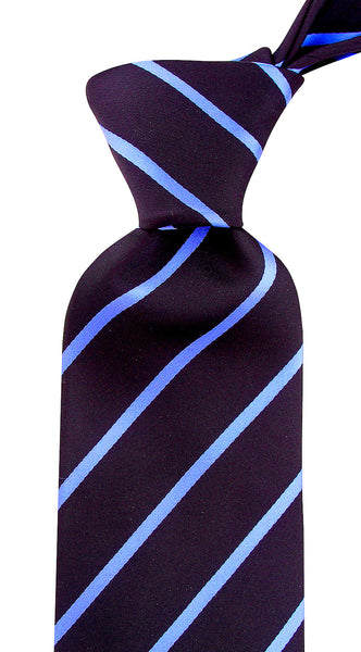 Black and Blue Striped Necktie