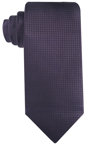Solid Flat Black/Gray Necktie