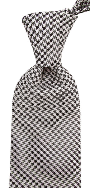 Hound's-tooth Necktie - Black and White