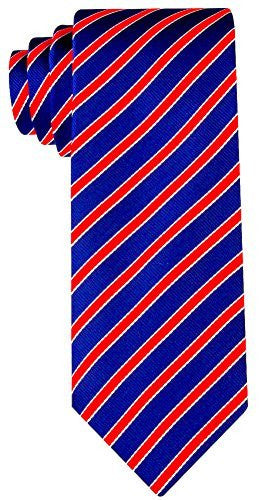 Striped Necktie - Navy Blue and Red - Scott Allan Collection