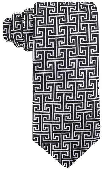 Black Greek Key Necktie