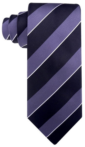 Black & Gray College Stripe Necktie