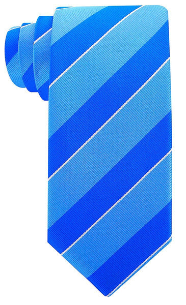 Blue College Stripe Necktie