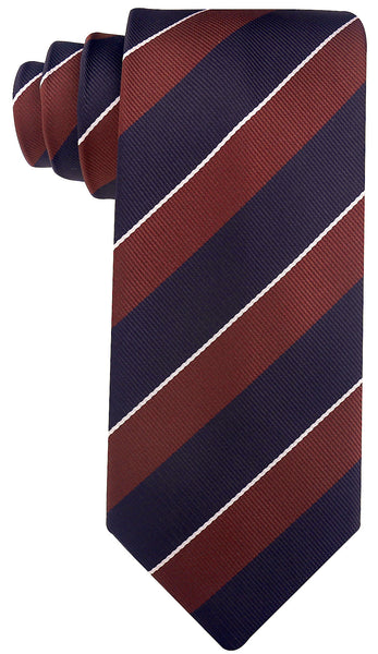 Brown & Black College Stripe Necktie