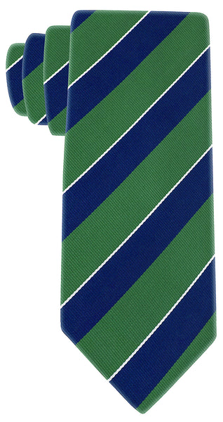 Green & Navy Blue College Necktie