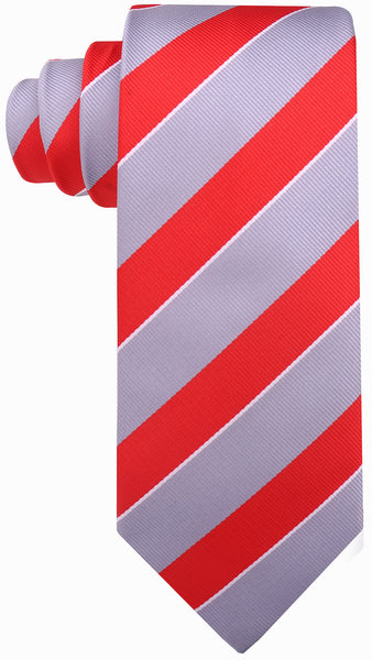Red & Gray College Necktie