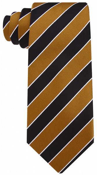 Black & Gold College Necktie