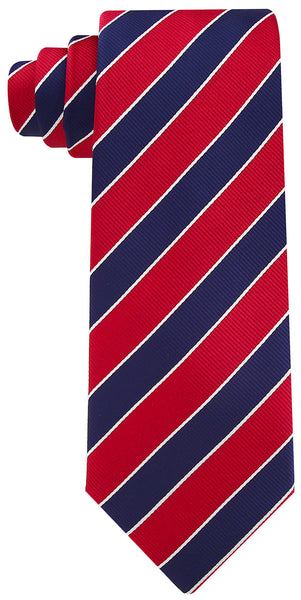 Burgundy Navy Blue College Stripe Necktie