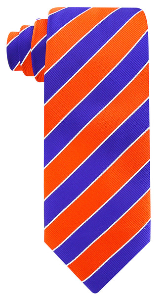 Orange Blue College Stripe - Scott Allan Collection
