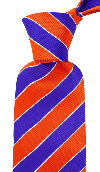 Orange Blue College Stripe