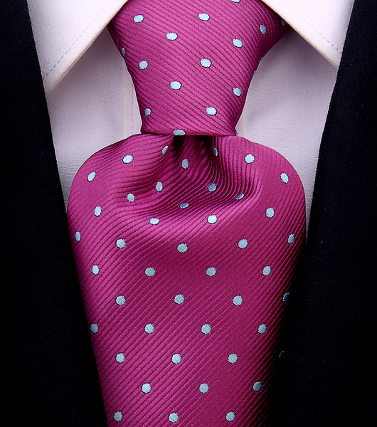 Plum Purple Polka Dot Necktie - Scott Allan Collection