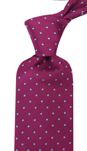 Plum Purple Polka Dot Necktie