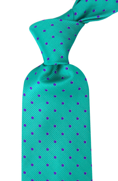 Green Polka Dot Necktie