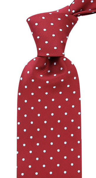 Burgundy Polka Dot Necktie - Scott Allan Collection