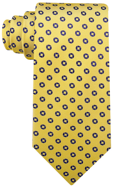 Geometric Necktie - Yellow