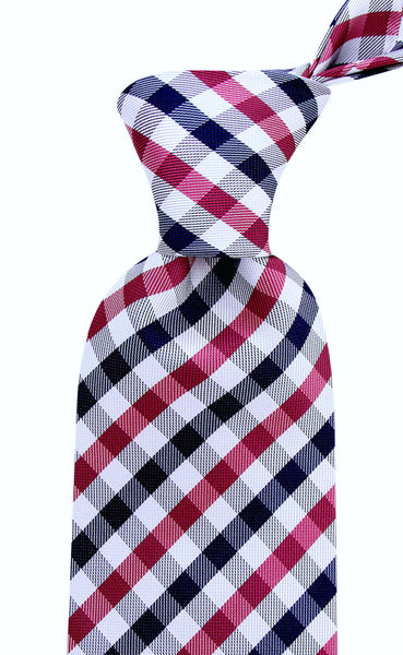 Purple Gingham Plaid Necktie