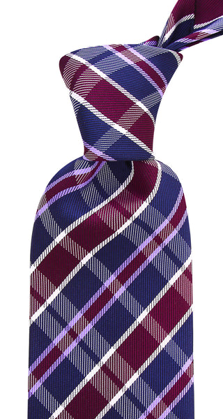Navy Blue and Purple Necktie